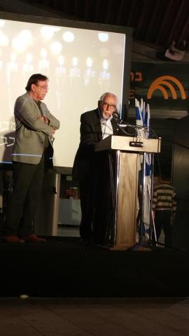 Smoky Simon Speaking at Machal Monument Dedication in Jerusalem