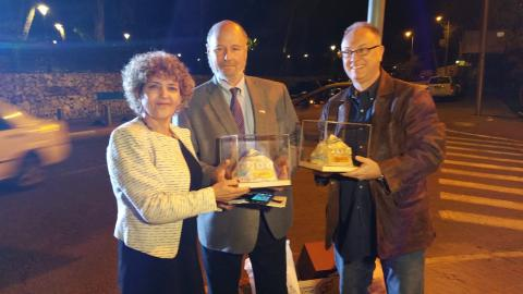 Mini Monuments for Deputy Mayor Yael Antebi and Jerry Klinger, presented by Sculptor Sam Philipe